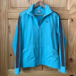 Nike zip front windbreaker jacket women's L